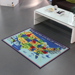 Anti-slip American Map for Kids Playing