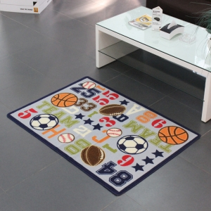 Custom Design Football Pitch Kids Rugs
