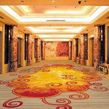 China Banquet Hall Hotel Room Nylon Loop Pile Carpet Roll factory