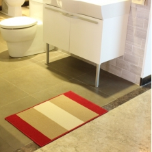 China Classic Vertical stripes Pattern Bathroom Rug factory