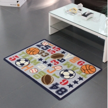 China Custom Design Football Pitch Kids Rugs factory