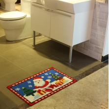 China Durability New Design Christmas Bathroom Rug factory