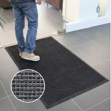 China Industrial Mats No Slip Heavy Duty Outdoor Black Rubber Commercial Floor Entrance Mats factory
