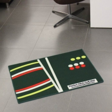 China Polyester Golf Mat with PVC backing factory