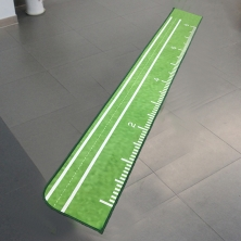 China Polyester Surface Golf Practice Mat Sublimation Printing Golf Rugs factory