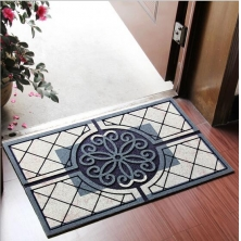 China Space Pattern Design Recycle Rubber Door Mat factory
