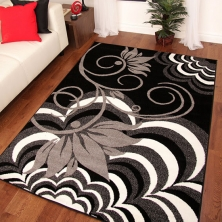 China Wholesale Washable Printed Flower Area Rug factory