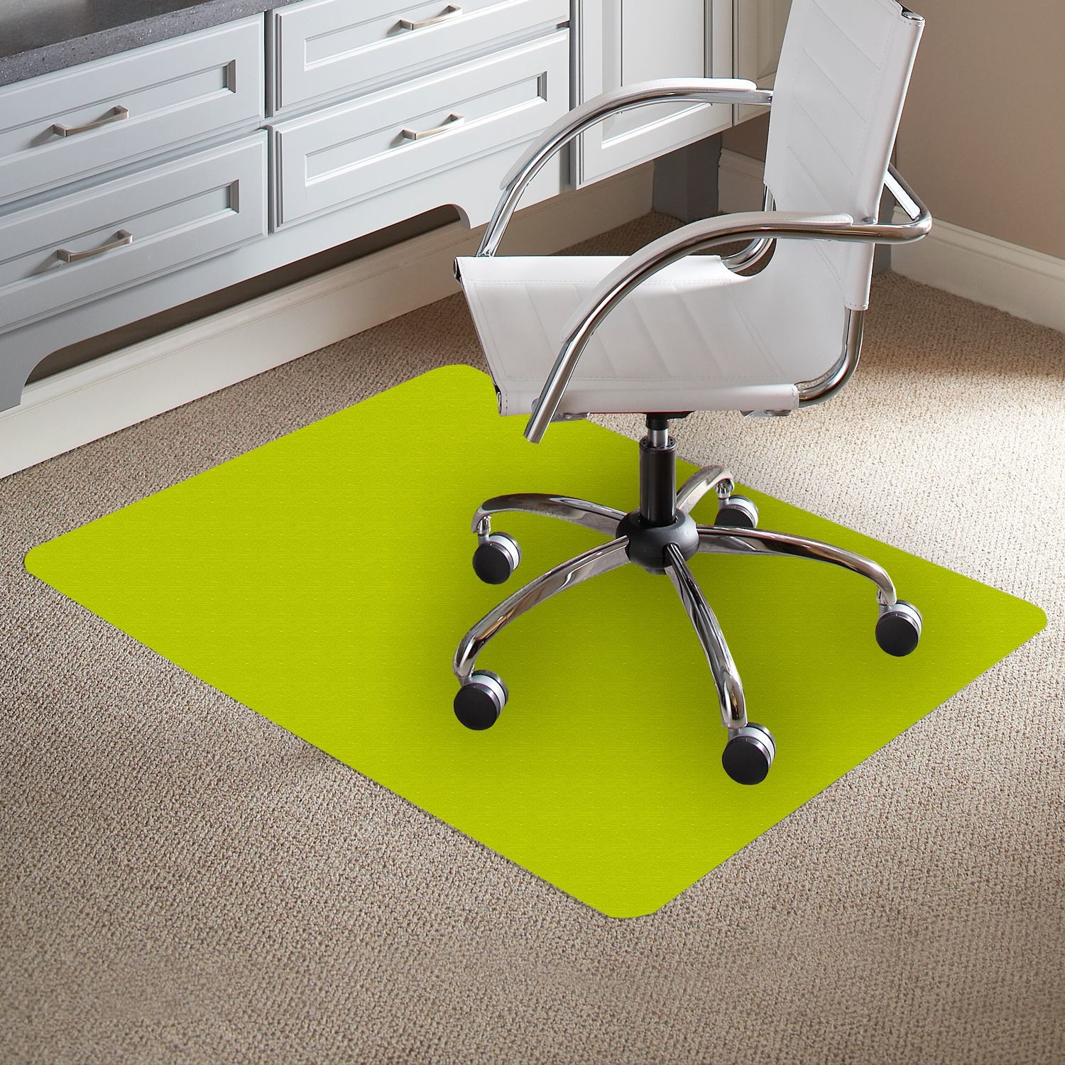 Black Vinyl Chair Mat