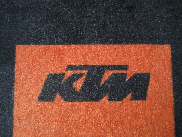 Custom Racing Motorcycle Floor Mat For Ktm