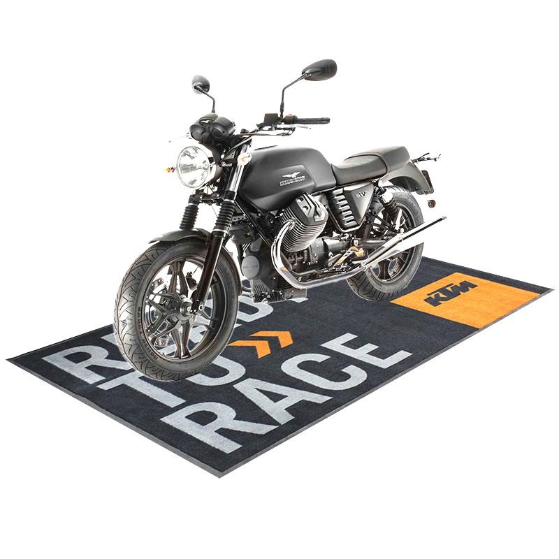 Motorcycle Large Carpeted Garage Mat